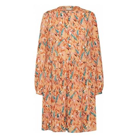 VILA Sukienka koszulowa 'VIPAILO' turkusowy / morelowy / ciemnopomarańczowy / biały