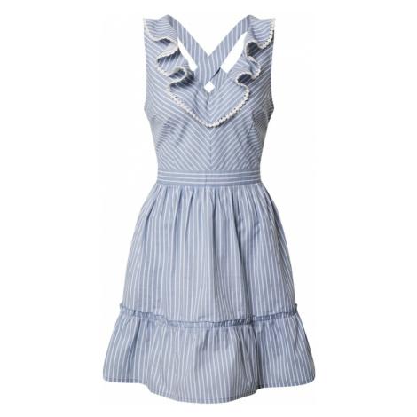 Rut & Circle Letnia sukienka 'ZOE' biały / jasnoniebieski
