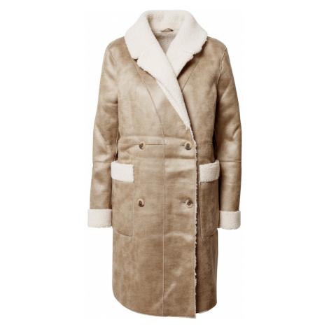 VILA Płaszcz zimowy 'Vilist' piaskowy / biały