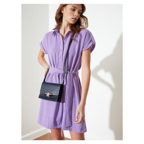Trendyol fioletowy koszulowa sukienka