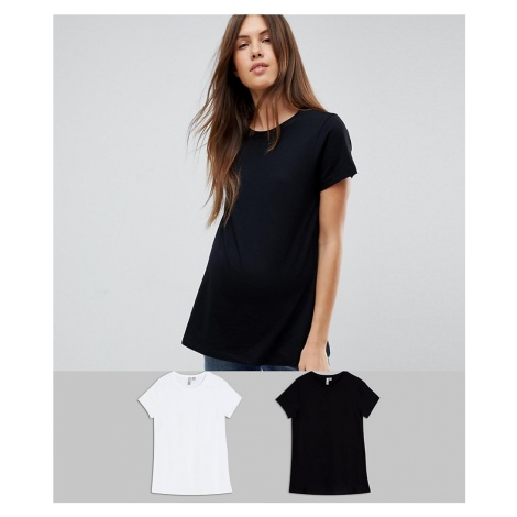 ASOS DESIGN Maternity ultimate crew neck t-shirt 2 pack SAVE