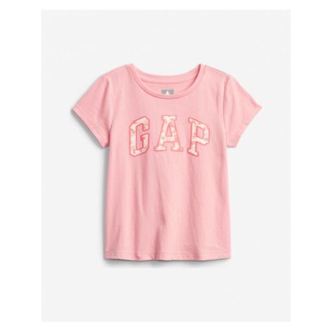 GAP Logo Koszulka dziecięce Różowy