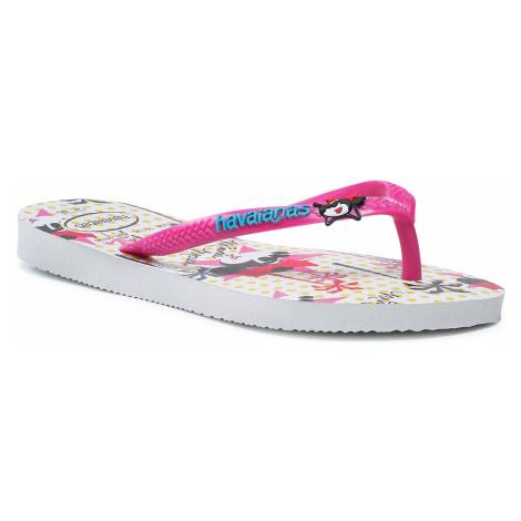 Japonki HAVAIANAS - Disney Cool 41302877026 White/Pink Flux
