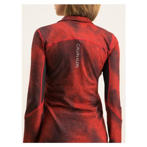 Calvin Klein Performance Bluza techniczna 00GWH9K252 Bordowy Slim Fit