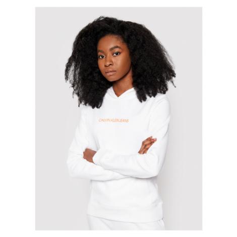 Calvin Klein Jeans Bluza J20J215582 Biały Regular Fit
