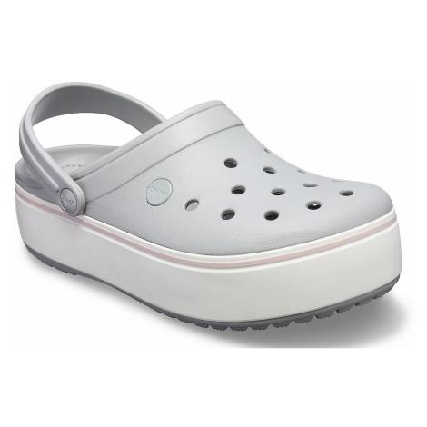 buty Crocs Crocband Platform Clog - Light Gray/Rose