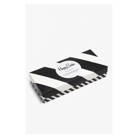 Zestaw Skarpet 4Pack Happy Socks 4-Pak Classic Xcbw09-9100 Black White
