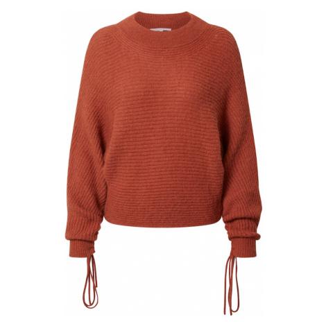 PATRIZIA PEPE Sweter 'Maglia' brąz / rdzawoczerwony