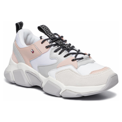 Sneakersy TOMMY HILFIGER - Cosy Chunky Sneaker FW0FW04293 White 100