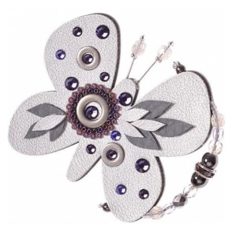 Petra Švarcová Srebrna broszka motyl