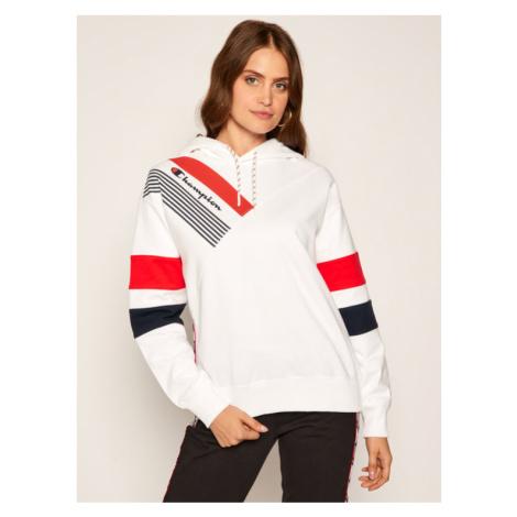 Champion Bluza Graphic 112758 Biały Custom Fit