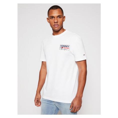 Tommy Jeans T-Shirt Ny Script Box Back Logo DM0DM10216 Biały Regular Fit Tommy Hilfiger