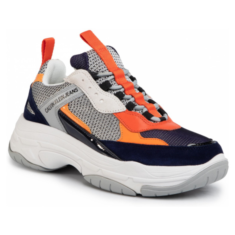 Sneakersy CALVIN KLEIN JEANS - Marvin S0592 Navy/Light Grey/Orange