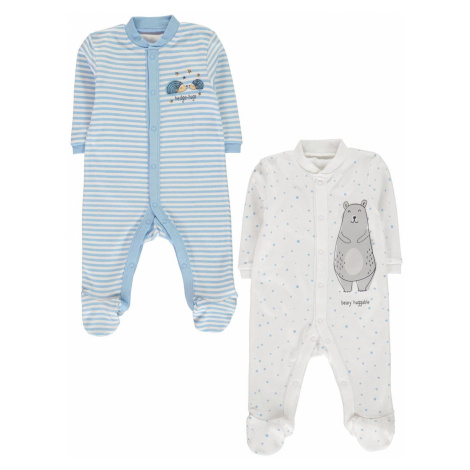 Crafted Essentials White 3 Pack Sleepsuit Unisex Baby