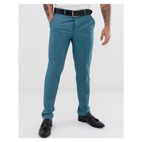 ASOS DESIGN wedding slim suit trousers in mid blue