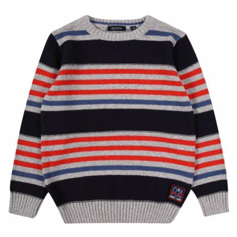 BLUE SEVEN Sweter niebieska noc / jasnoczerwony / gołąbkowo niebieski / szary
