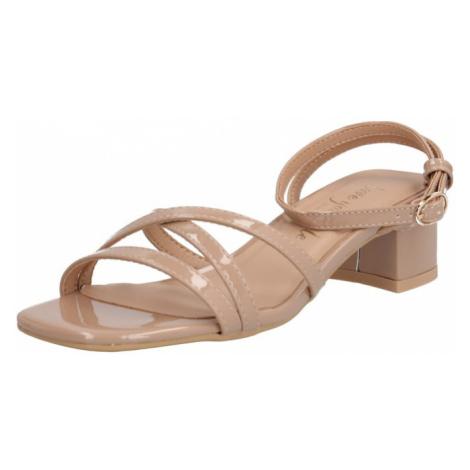 NEW LOOK Sandały z rzemykami 'VANILLA - PAPU MULTI STRAP LOW BLOCK' beżowy