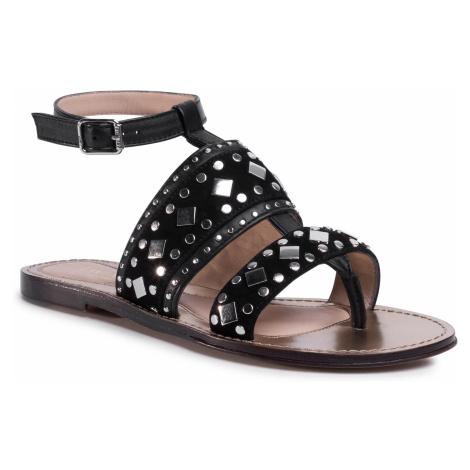 Sandały TWINSET - Sandalo 201TCT04A Nero 00006