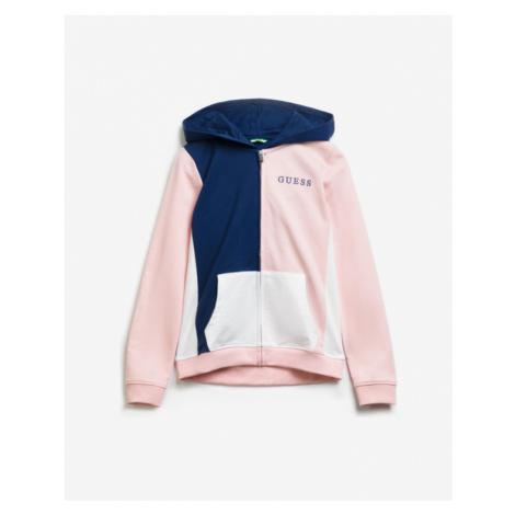 Guess Colorblock Bluza dziecięca Niebieski Różowy