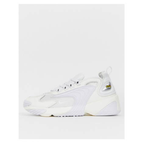 Nike Zoom 2K trainers in triple white