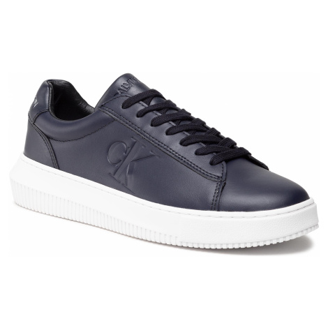 Sneakersy CALVIN KLEIN JEANS - Chunky Sole Sneaker Laceup Lth YM0YM00036 Night Sky CHW