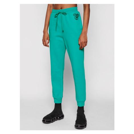 Pinko Spodnie dresowe Bugs AI 20-21 PRR 1N12XZ Y75F Zielony Regular Fit