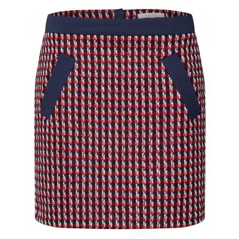 ESPRIT Spódnica 'woven' granatowy / czerwony