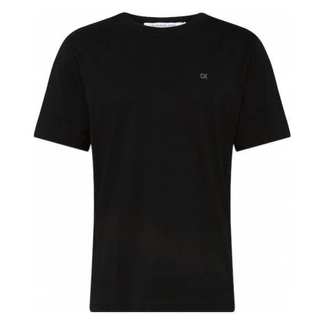 Calvin Klein Jeans Koszulka 'CKJ EMBROIDERY REG FIT TEE' schwarz