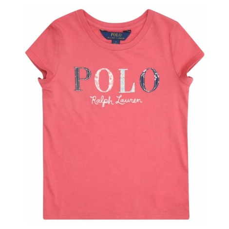 POLO RALPH LAUREN Koszulka 'SS POLO TEE-TOPS-KNIT' mieszane kolory / różowy