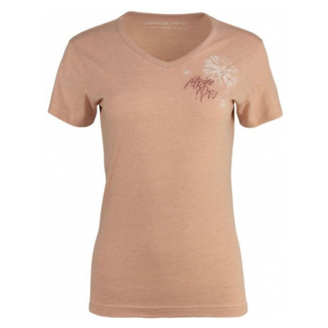 ALPINE PRO MARWA różowy L - Koszulka damska