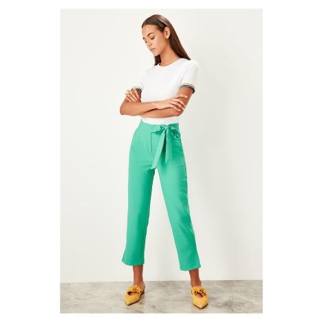 Trendyol Green Fastening detailed trousers
