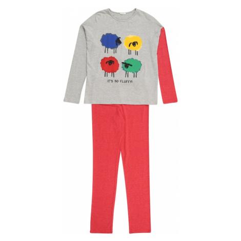 UNITED COLORS OF BENETTON Piżama szary / melonowy / niebieski / żółty / mieszane kolory