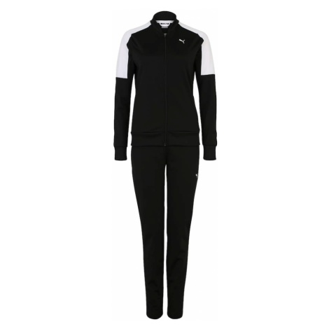 PUMA Strój treningowy 'Clean Tricot Suit Op' czarny / biały