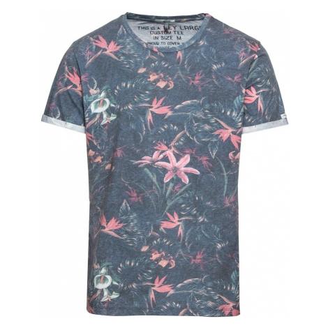 Key Largo Koszulka 'MT JUNGLE round' podpalany niebieski / różowy pudrowy