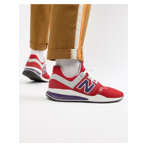New Balance 247v2 trainers in red MS247NMT