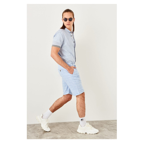 Trendyol Turquoise Mens Linen Looking shorts