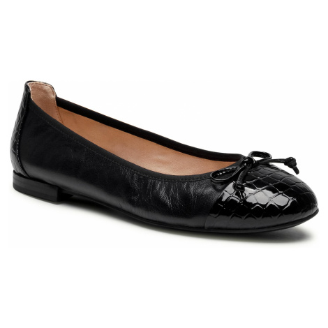 Baleriny CAPRICE - 9-22105-26 Black Nappa Co 026