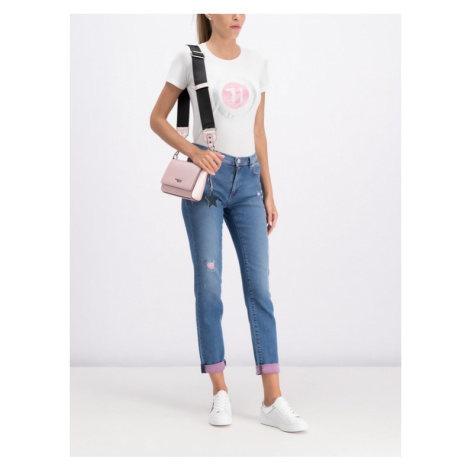 Trussardi Jeans T-Shirt 56T00205 Biały Slim Fit