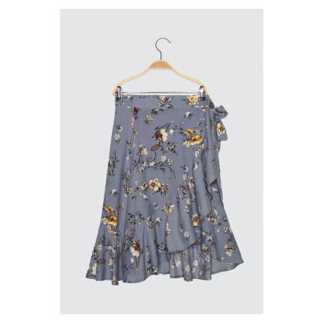 Spódnica Trendyol Petit z niebieskim krawatem