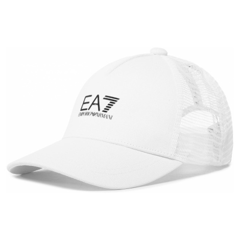 Czapka z daszkiem EA7 EMPORIO ARMANI - 245020 0P855 65310 White/Black Logo