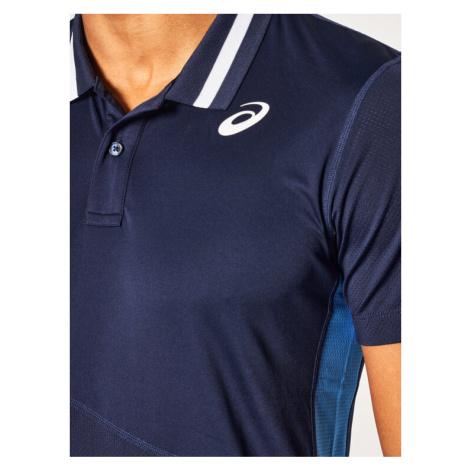 Asics Koszulka techniczna Club M Polo 2041A086 Granatowy Regular Fit