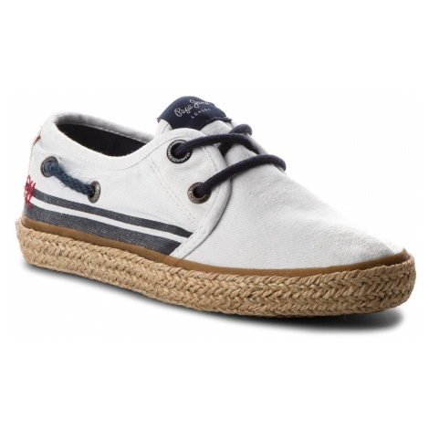 Espadryle PEPE JEANS - Sailor Tape PBS10085 White 800