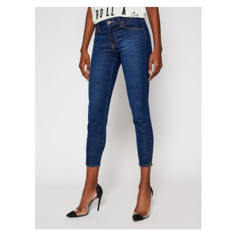 Lee Jeansy Skinny Fit Scarlett Cropped L30CPQAN Granatowy Skinny Fit