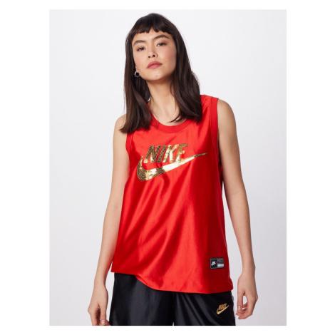 Nike Sportswear Top złoty / jasnoczerwony