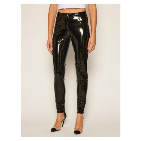 John Richmond Spodnie skórzane Balot RWA20326PA Czarny Slim Fit