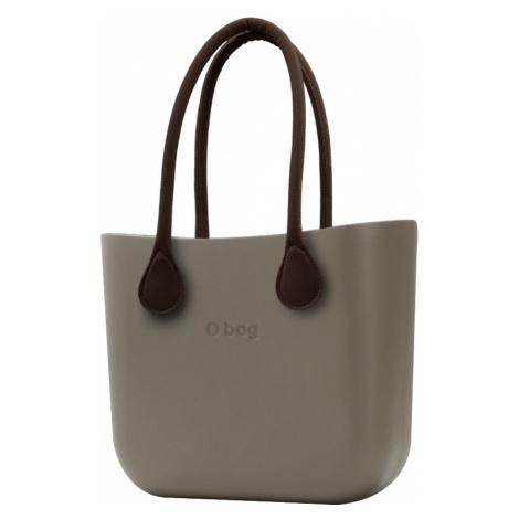 O bag torebka Rock z brązowymi długimi uchwytami ze skajki