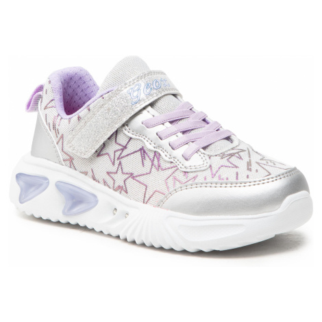 Sneakersy GEOX - J Assister G. A J15E9A 0GFKN C1316 D Silver/Lilac
