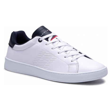 Sneakersy TOMMY HILFIGER - Retro Tennis Cupsole Leather FM0FM03276 White/Desert Sky 0K6