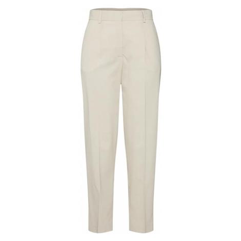 Calvin Klein Spodnie w kant 'ELASTIC BACK' beżowy