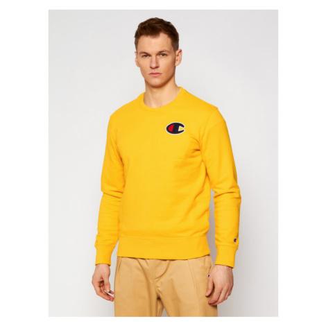 Champion Bluza Satin C Logo 214189 Żółty Comfort Fit